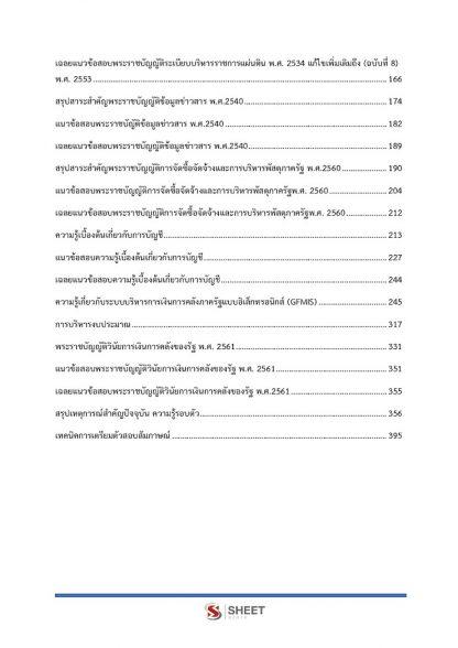 สารบัญเนื้อหา นักวิชาการเงินและบัญชี กสอ. 2